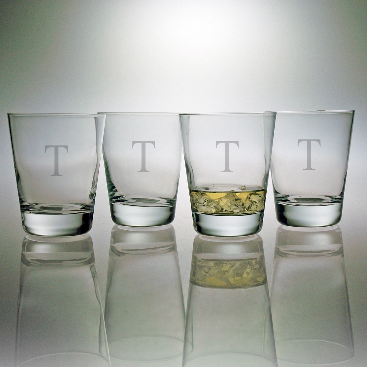Personalized Double Old Fashioned Glasses, Set of 4