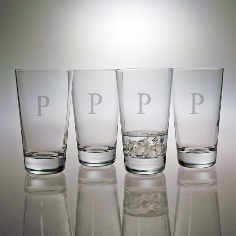 Personalized Highball Glasses, Set of 4