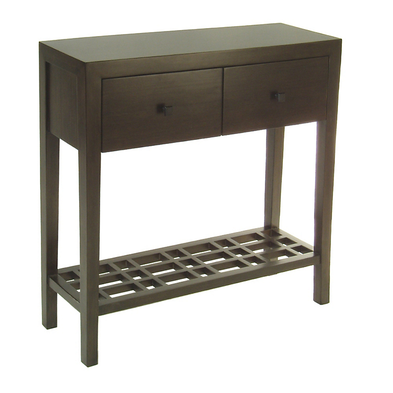 "Maria Yee Metro 35"" Console Table With Lattice Shelf"