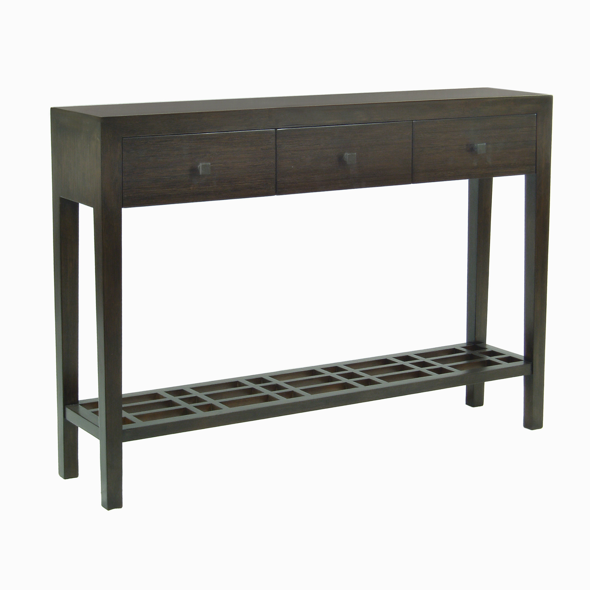 "Maria Yee Metro 48"" Console Table With Lattice Shelf"