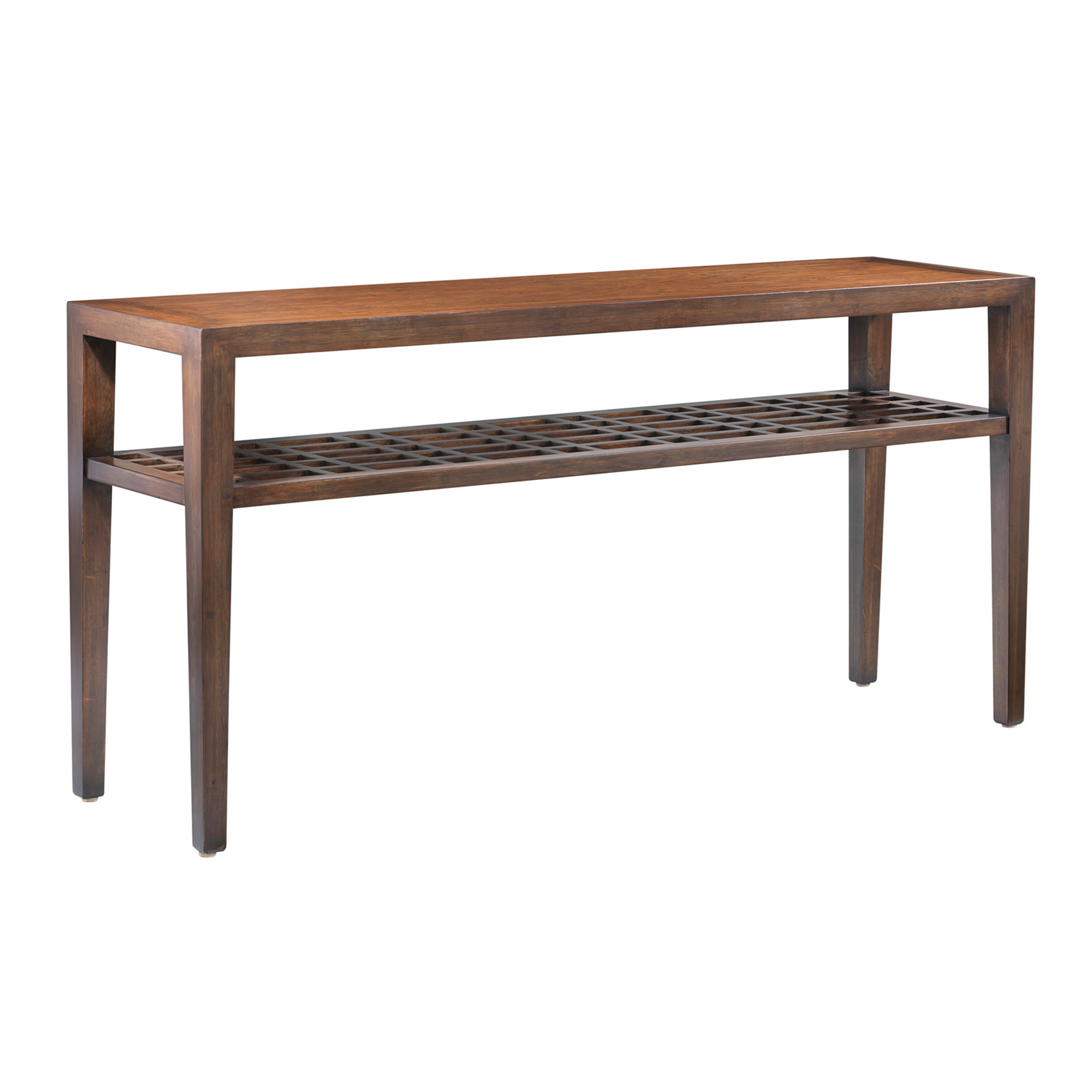 Maria Yee Metro Console Table With Lattice Shelf