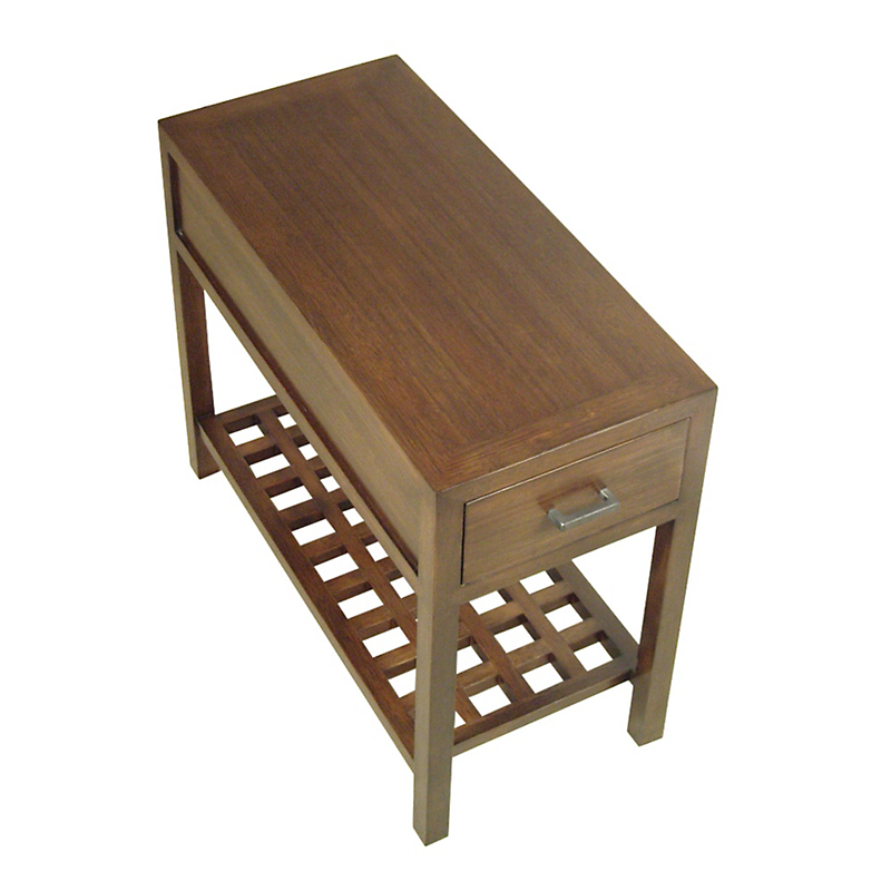 "Maria Yee Mondo 14"" End Table With Lattice Shelf"
