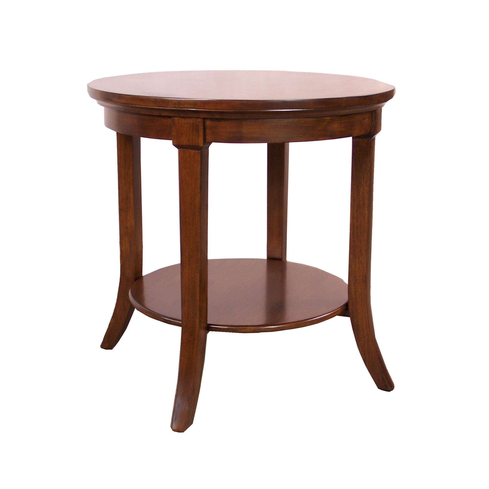 Maria Yee Montecito Round Table With Shelf