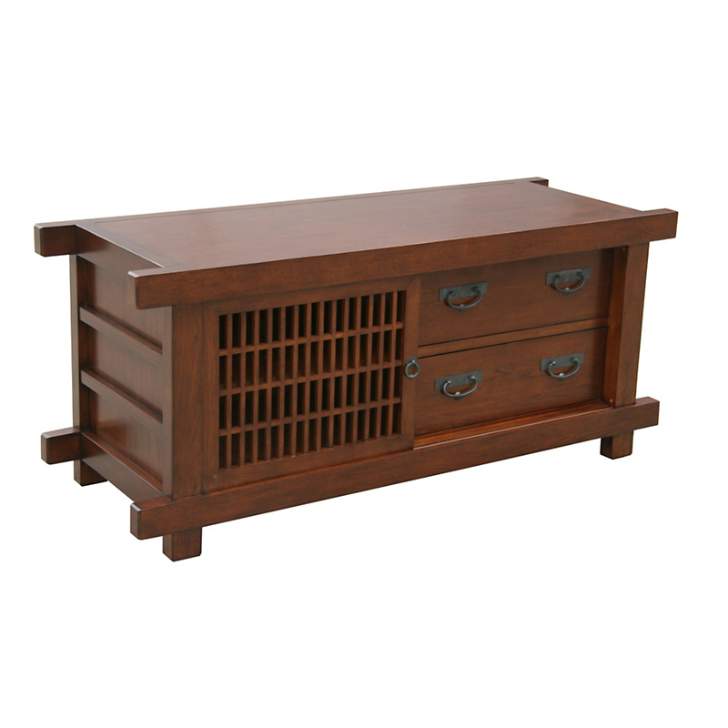"Maria Yee Shinto 58"" Lattice Media Cabinet"