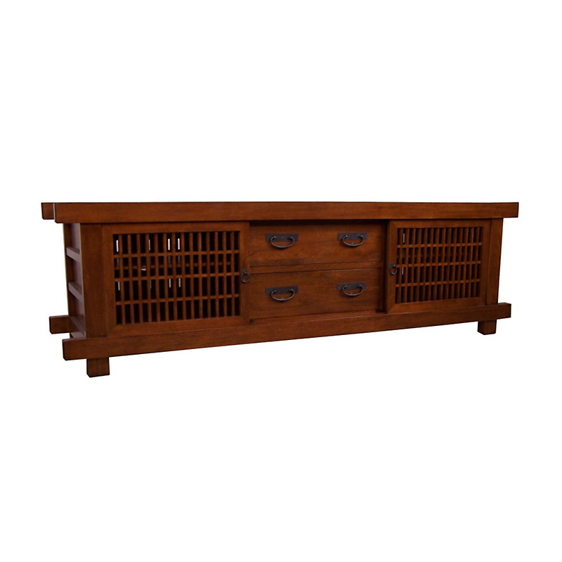 "Maria Yee Shinto 80"" Lattice Media Cabinet"
