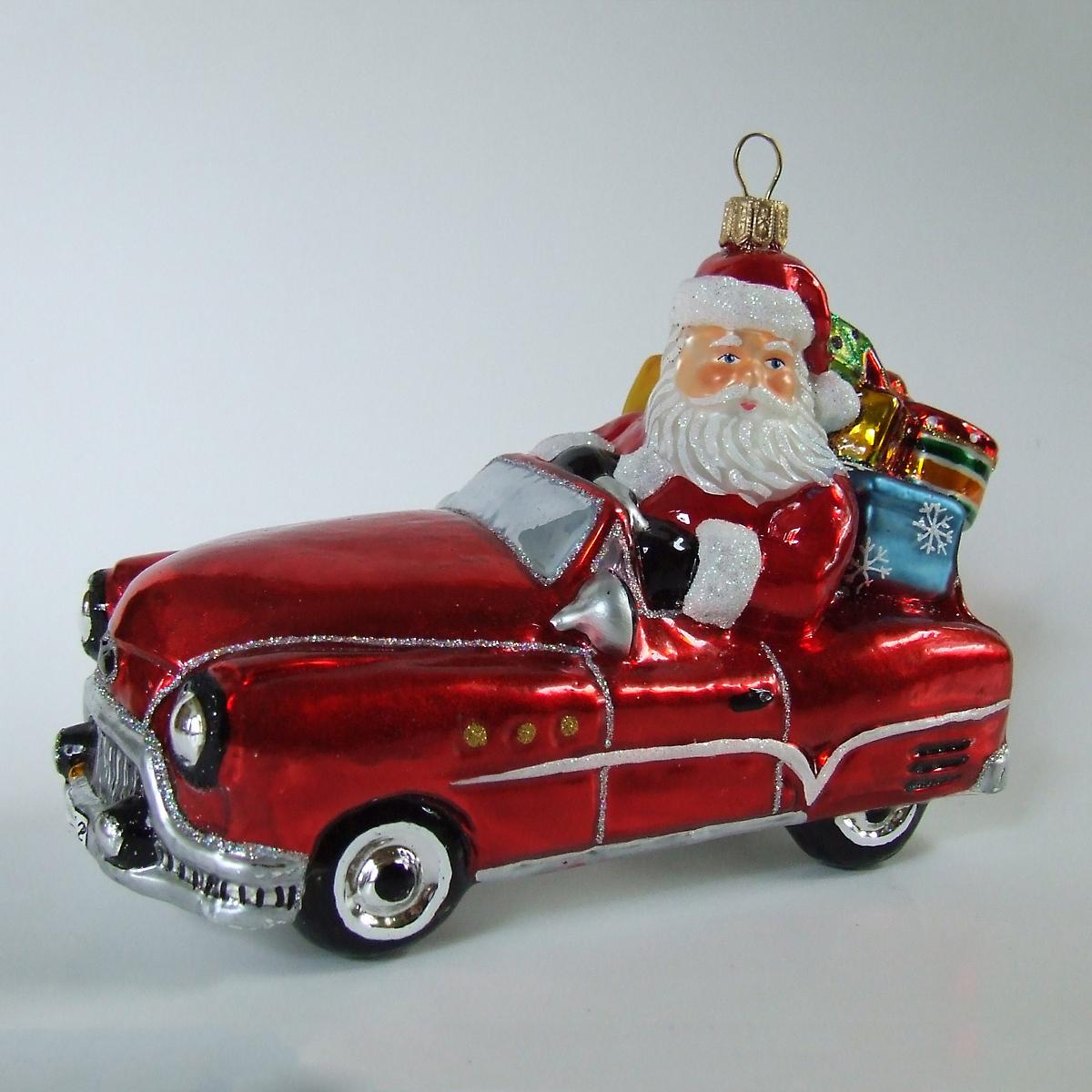 Santa slot car ornament