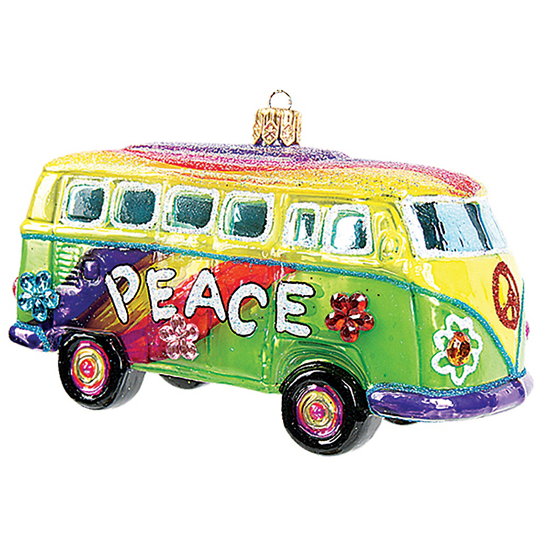 Hippie Bus Christmas Ornament