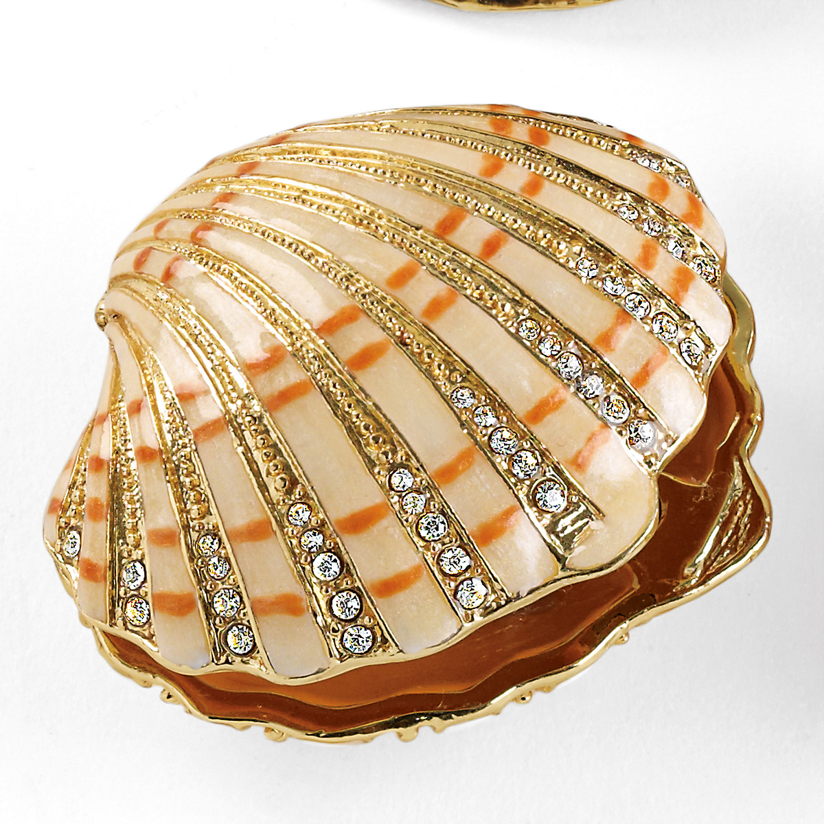 Bejeweled Clam Shell Box