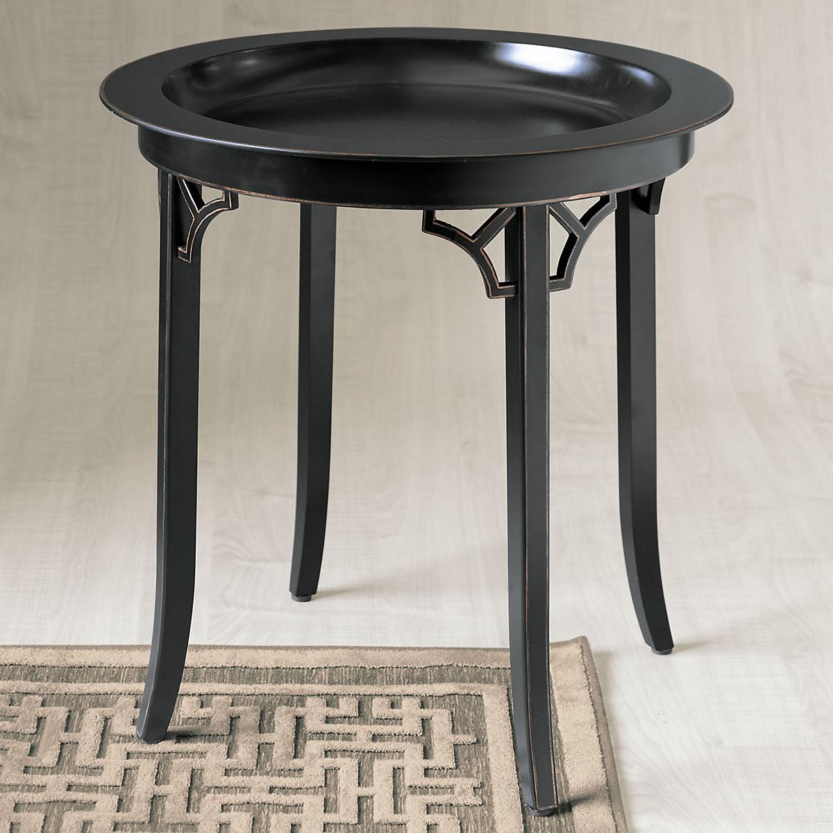Gilt border round side table black gump 39 s for Table border