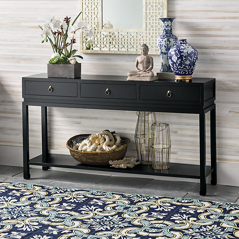 Livingston Console Table, Black