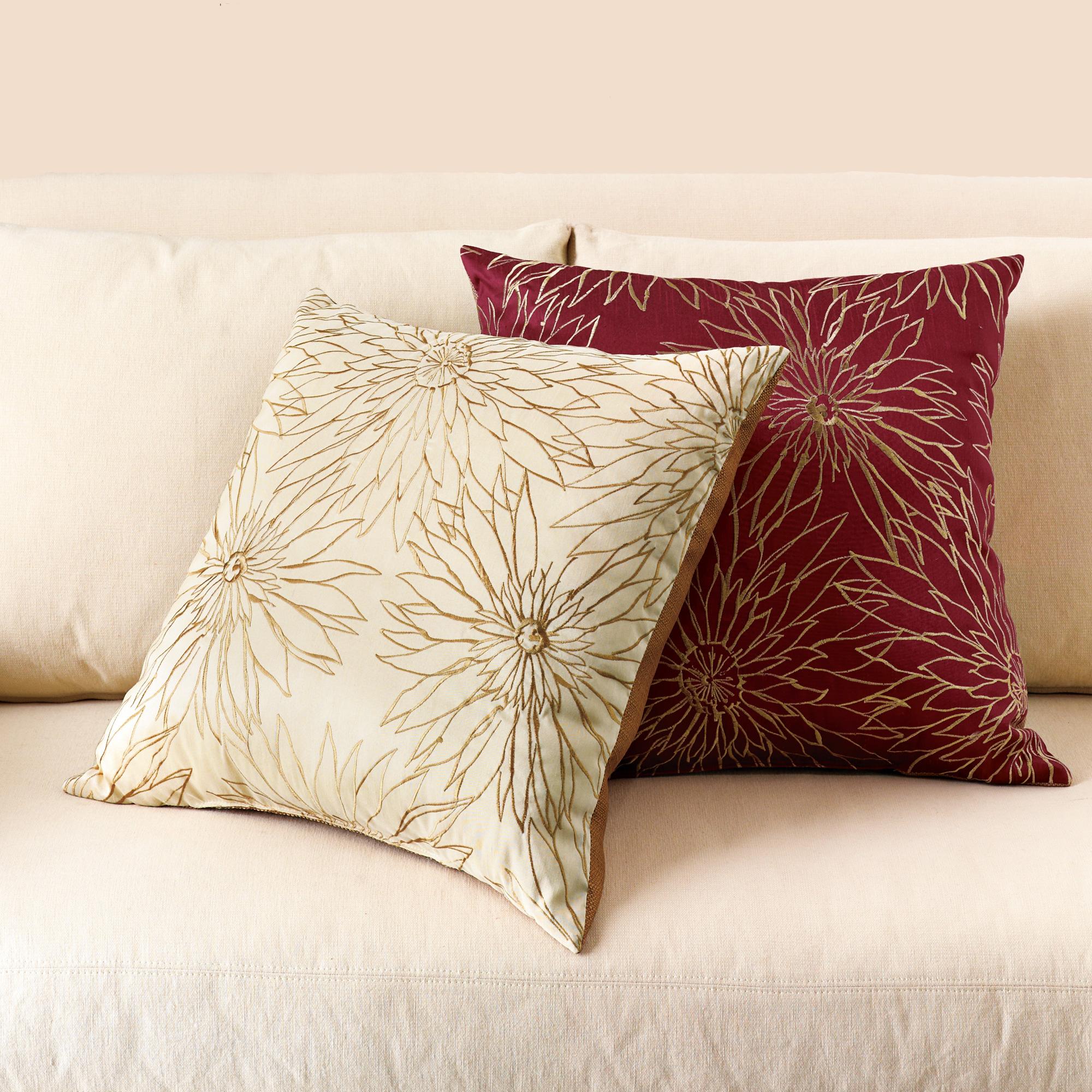 Throw Pillows Home : Dahlia Pillows Gump s
