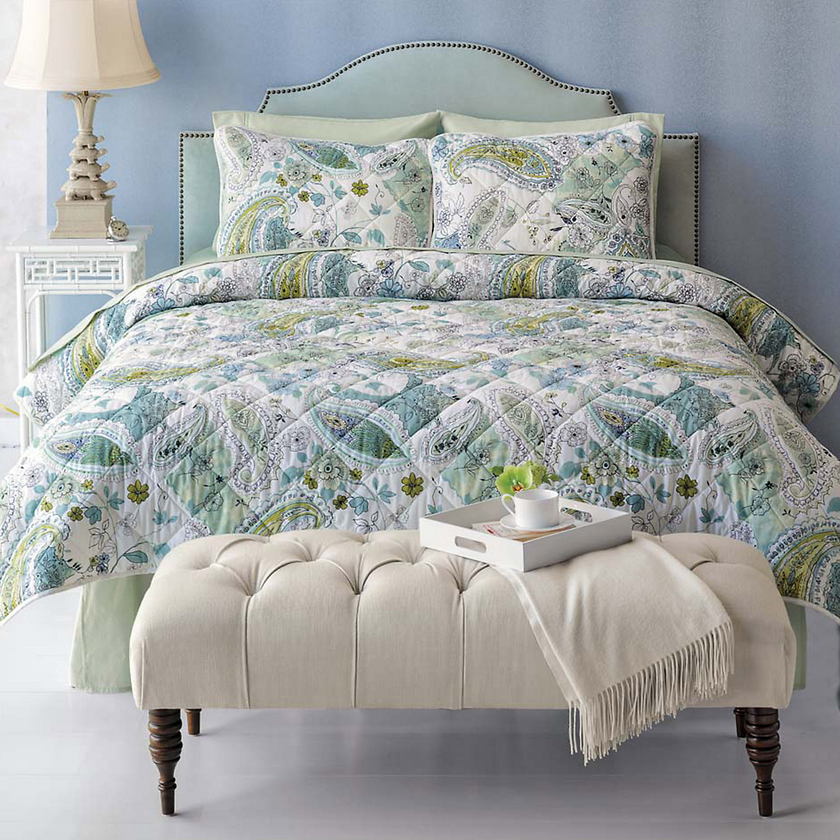 Laurel Heights Bedding & Mandalay Headboard