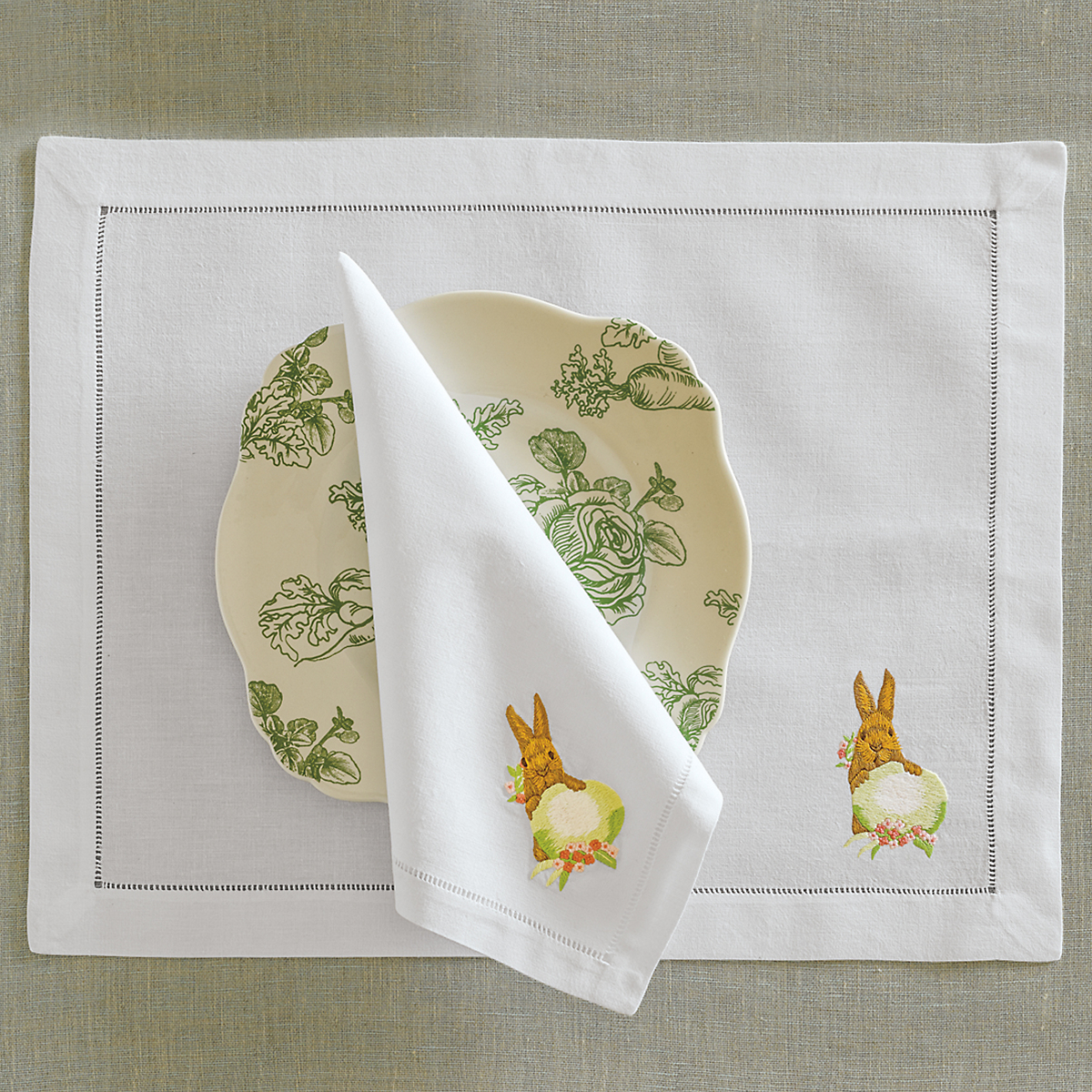 Embroidered Easter Table Linens