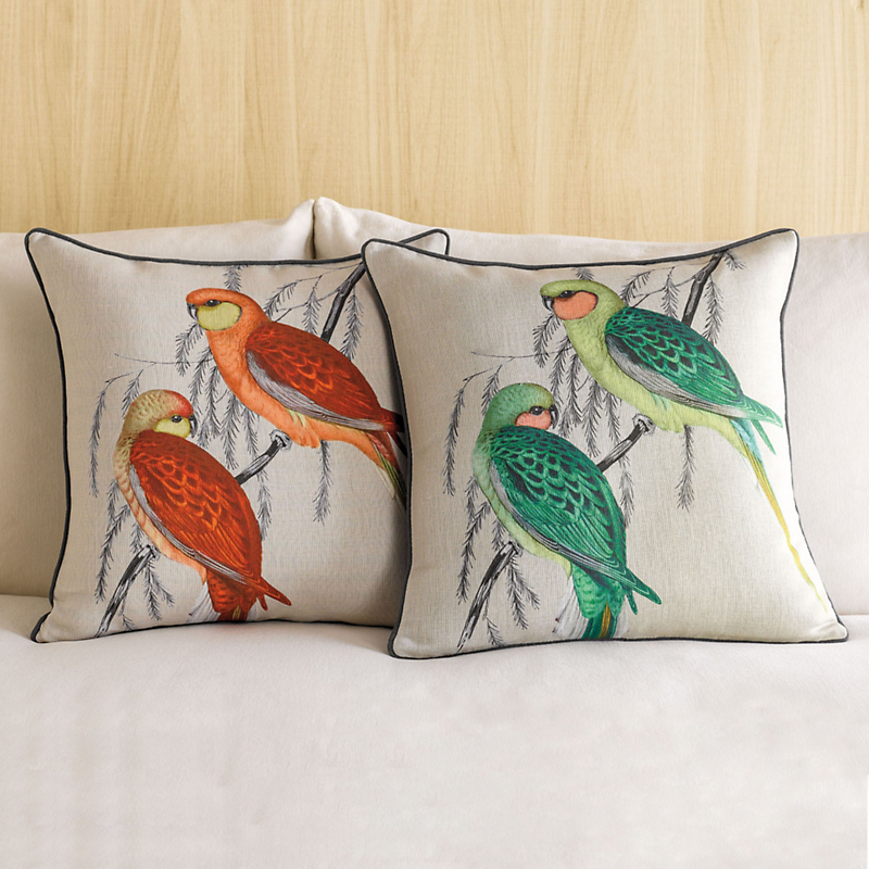 Parrot Tapestry Pillow