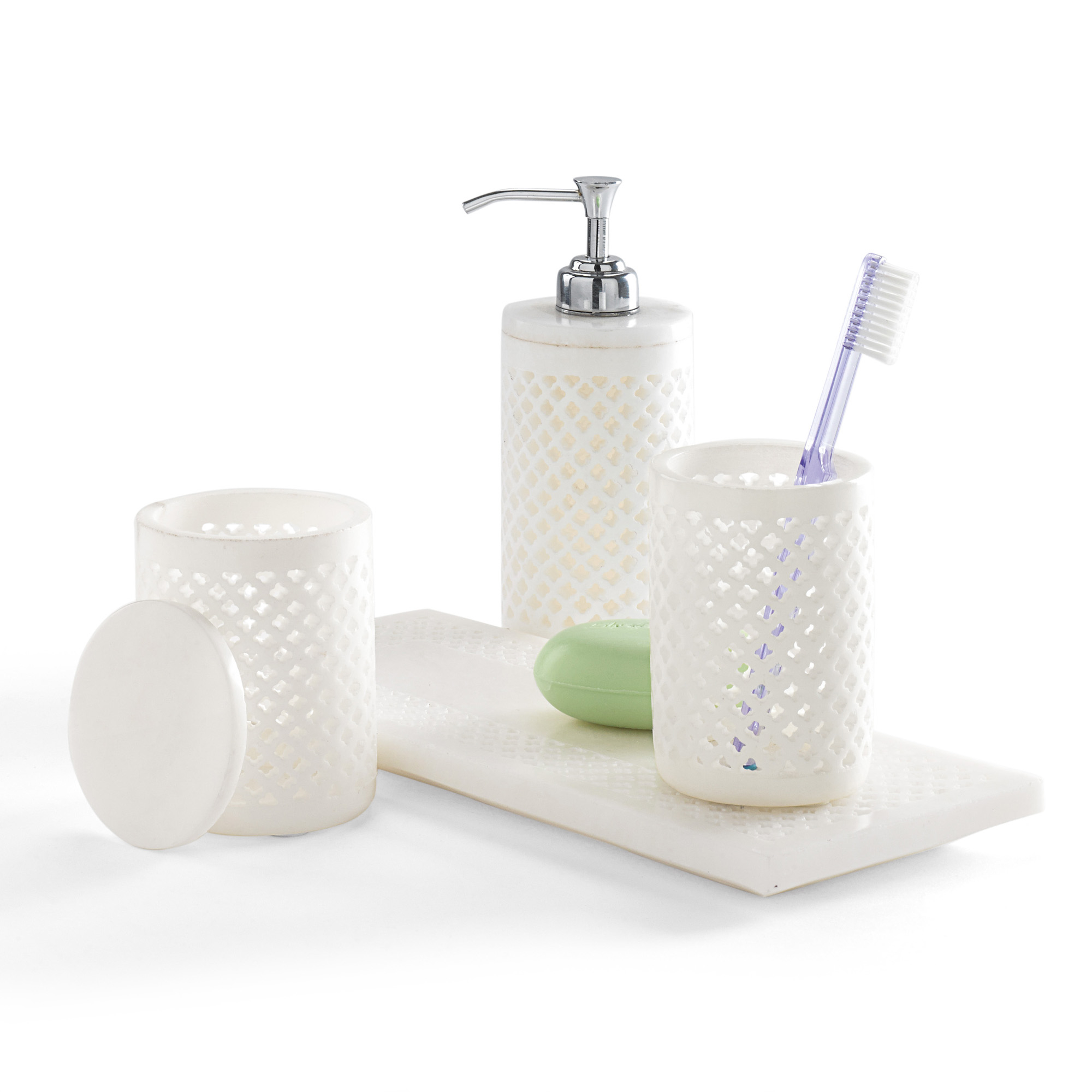 Alabaster Bath Accessories | Gump\'s