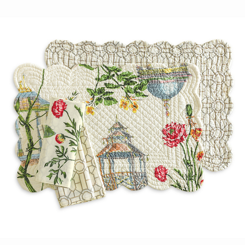 Garden Folly Reversible Table Linens