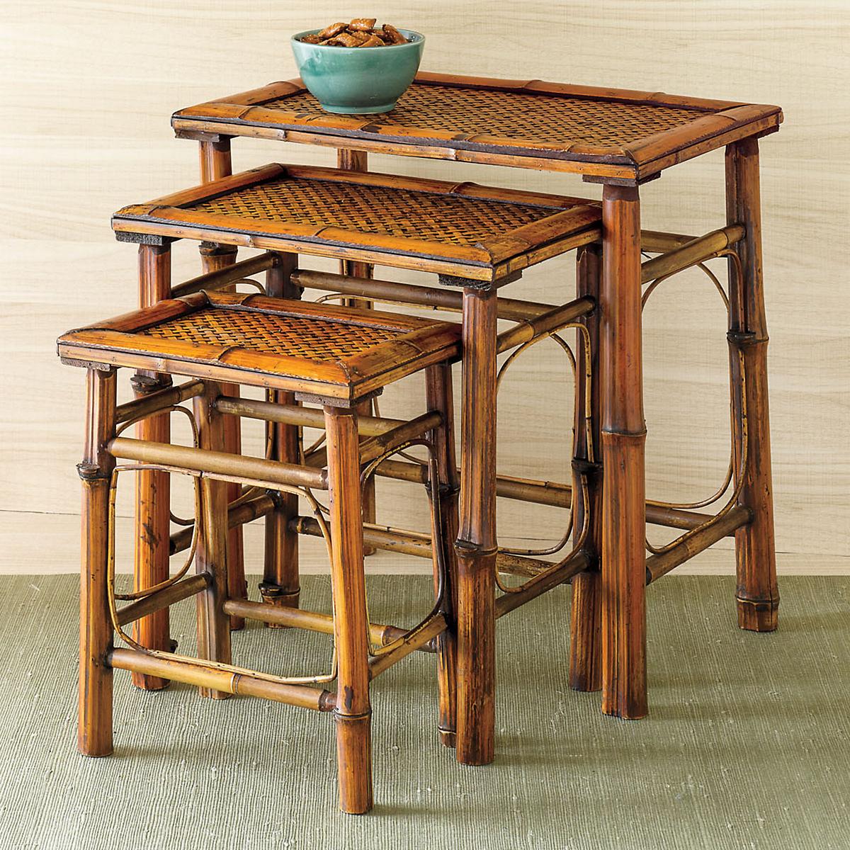 Conrad Bamboo Nesting Tables