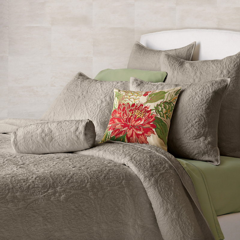 Provencal Paneled Quilt Collection, Taupe