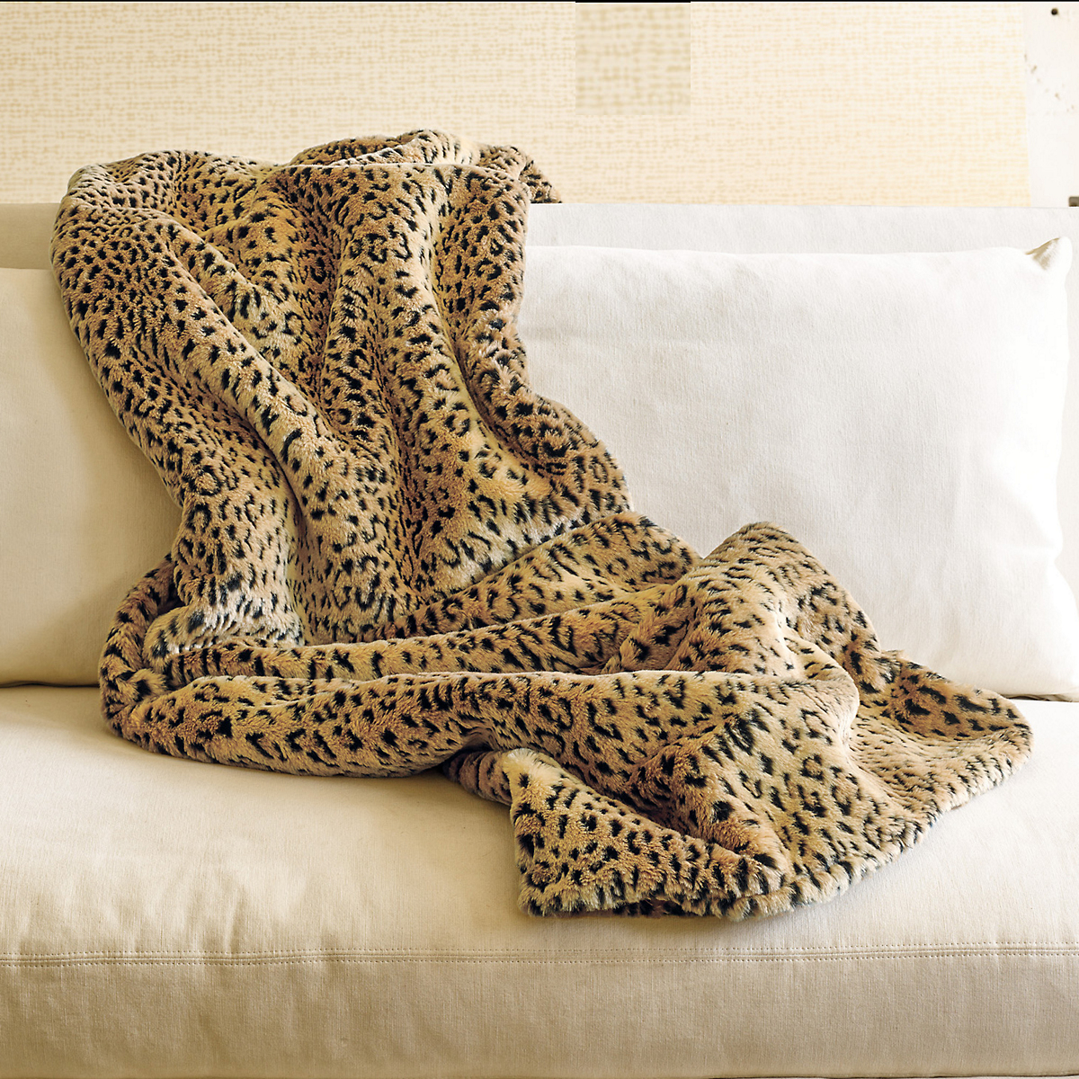 Faux Leopard Throw