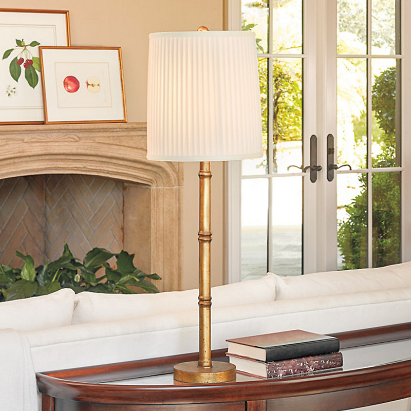 Gold Bamboo Table Lamp