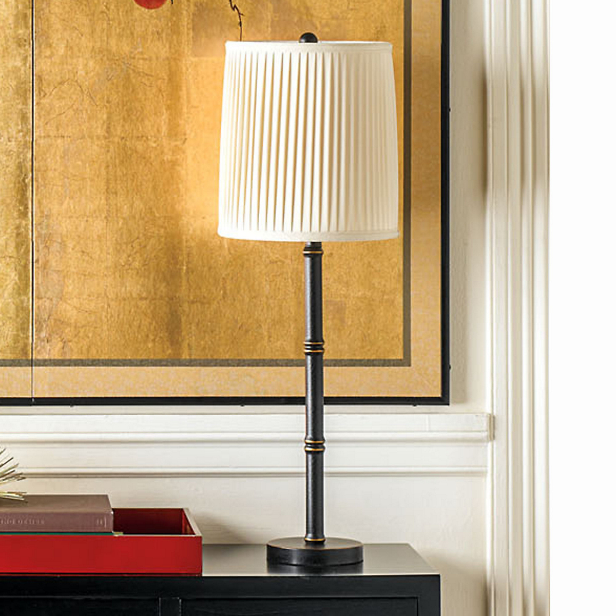 Black Bamboo Table Lamp