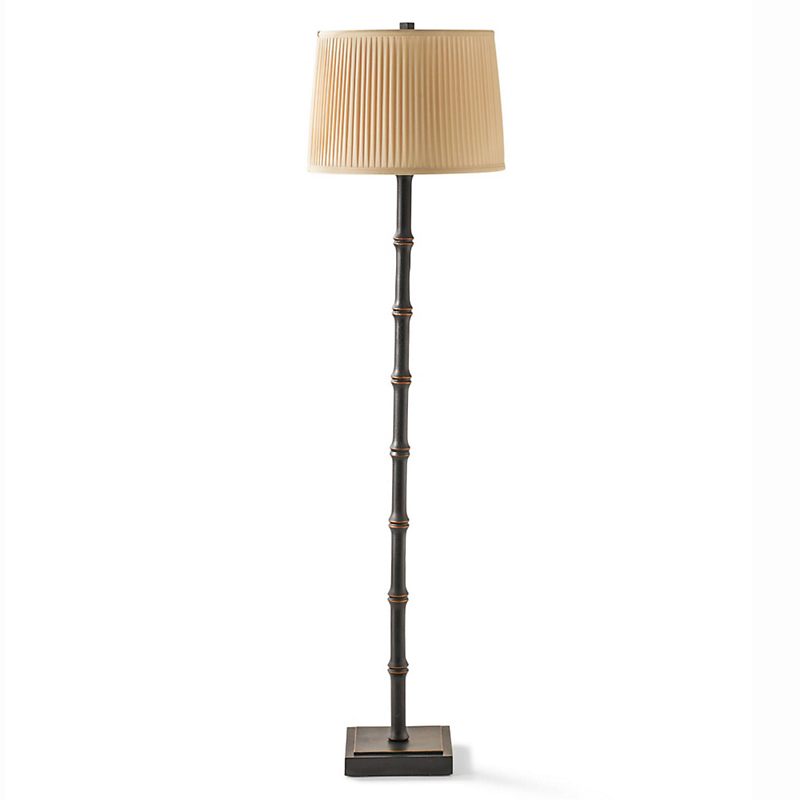Black Bamboo Floor Lamp
