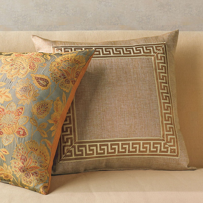 Gold Greek Key Pillow