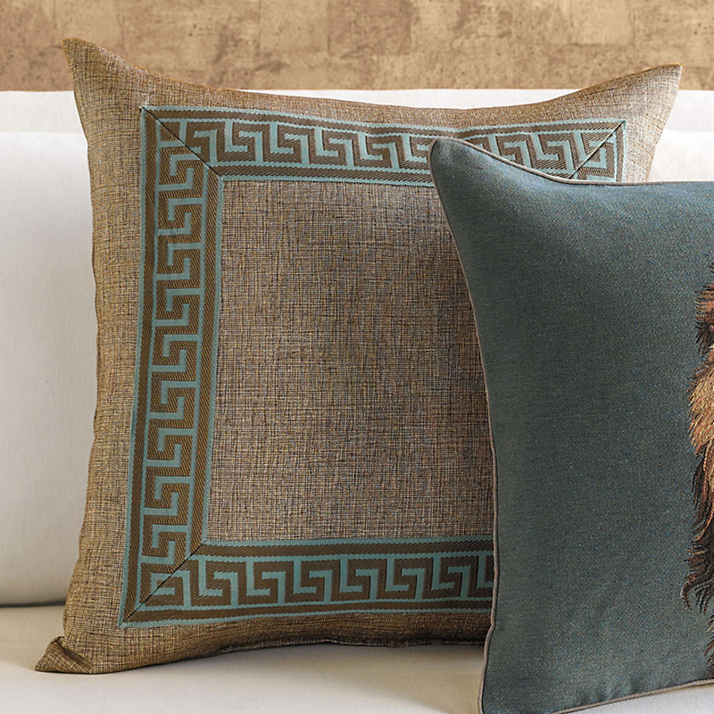 Regal Greek Key Pillow