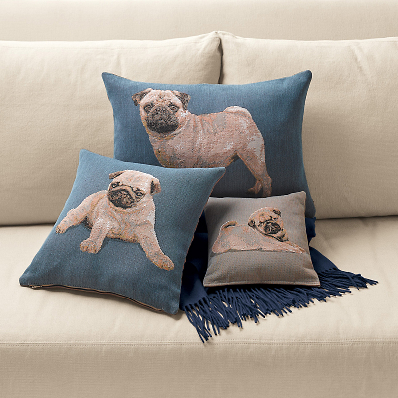 Pug Lumbar Pillow