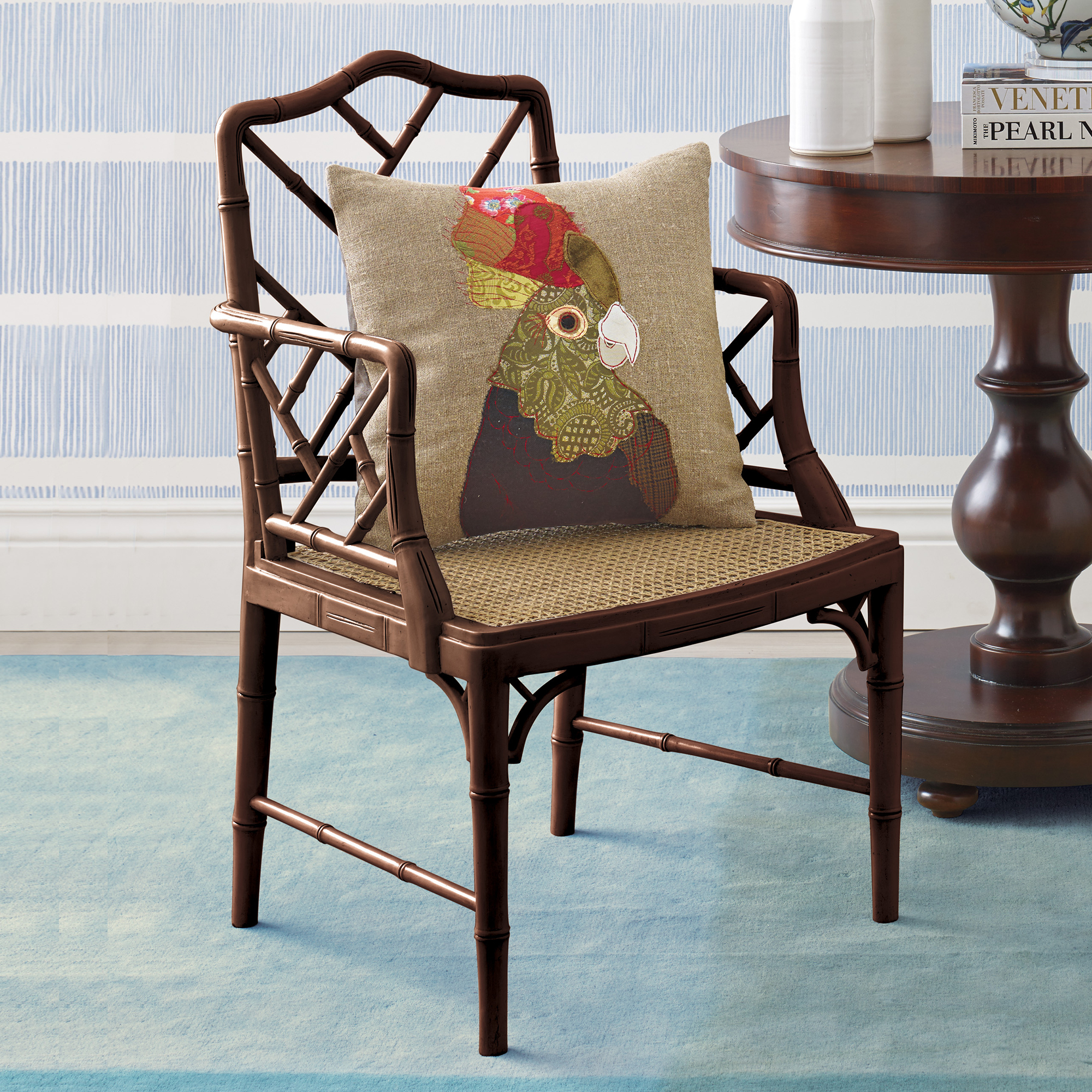 Brown Grayson Armchair & Cushion