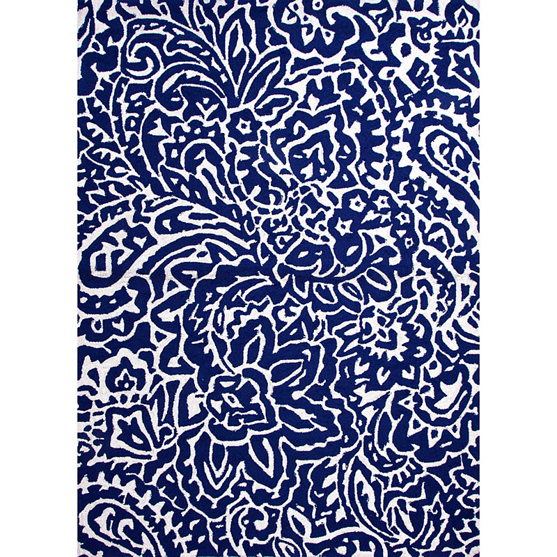 Barcelona Indoor / Outdoor Rug, Flores Blue