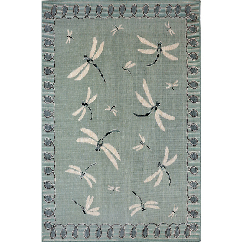 Dragonfly Indoor / Outdoor Rug, Aqua