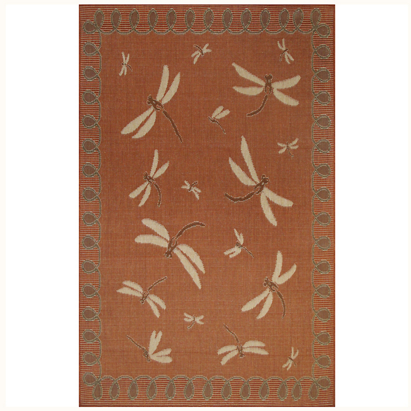 Dragonfly Indoor / Outdoor Rug, Terracotta