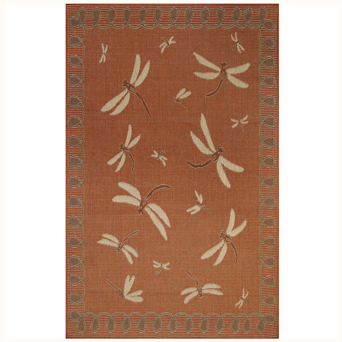 Dragonfly Rug, Terracotta