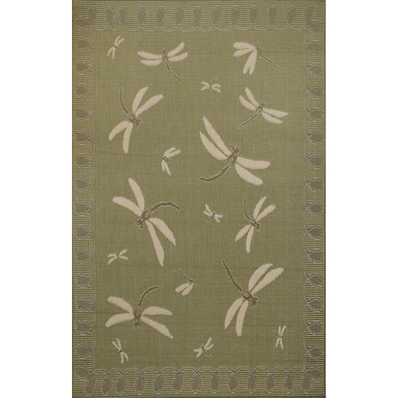 Dragonfly Indoor / Outdoor Rug, Moss