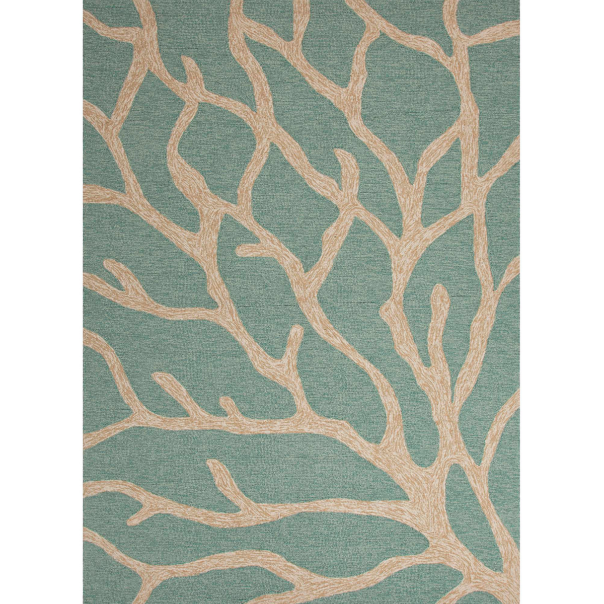 Biscayne indoor outdoor rug blue green gump 39 s for Indoor outdoor carpet green