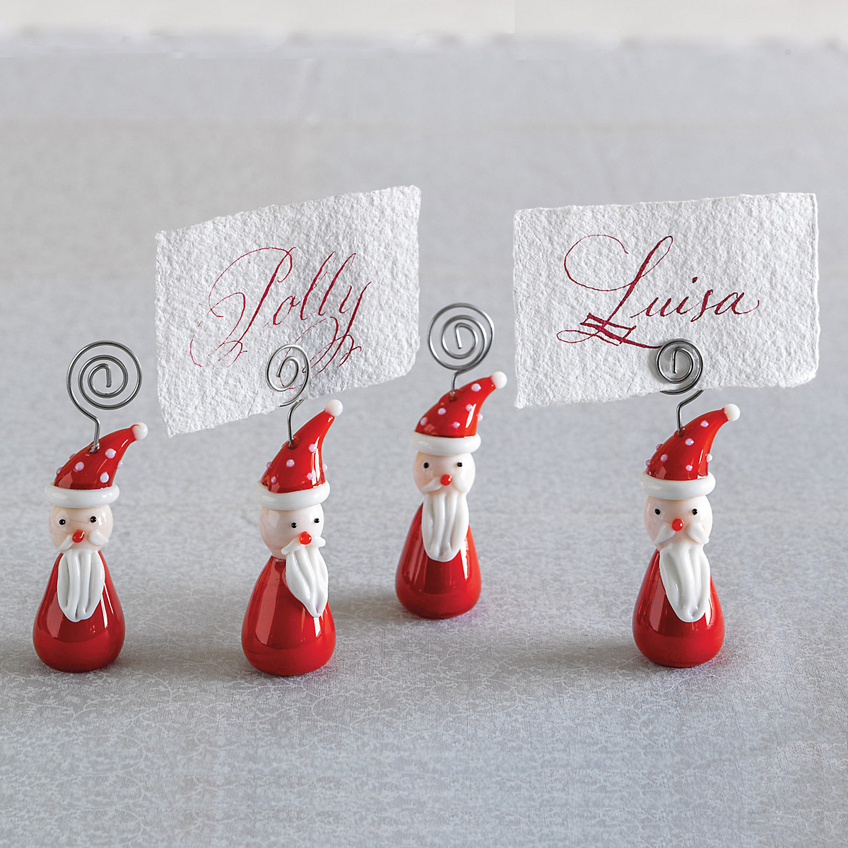Santa Placecard Holders