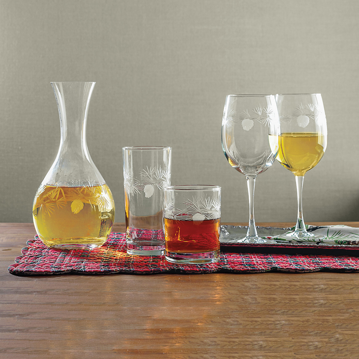 Pine Forest Glassware