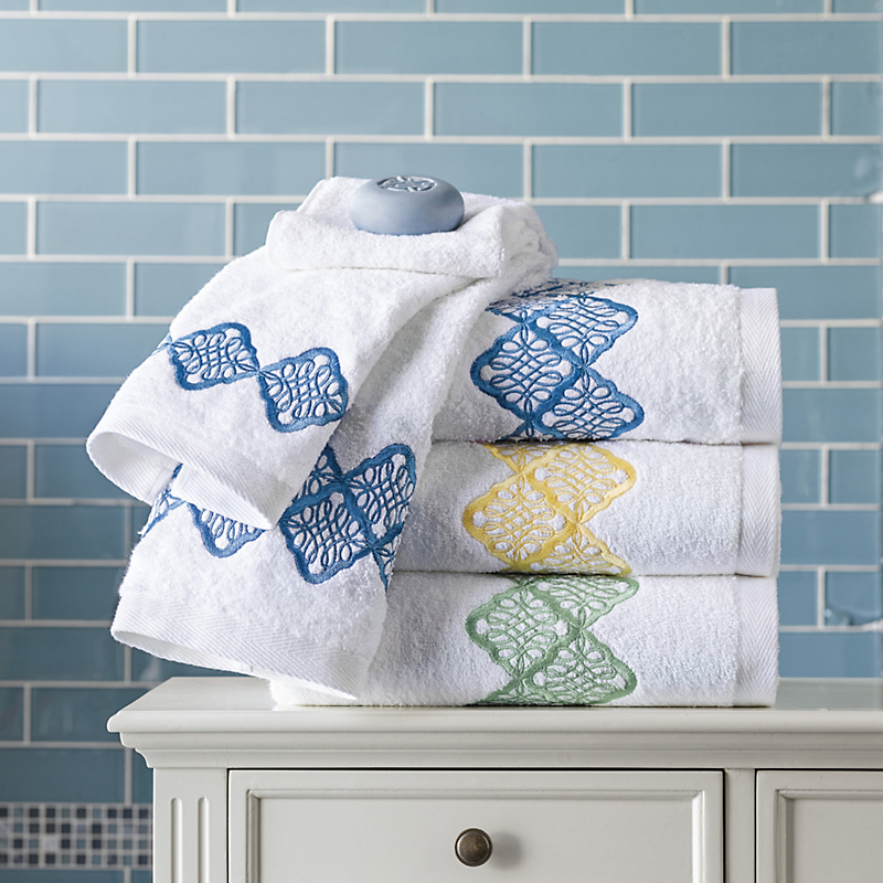 Chantilly Embroidered Hand Towel
