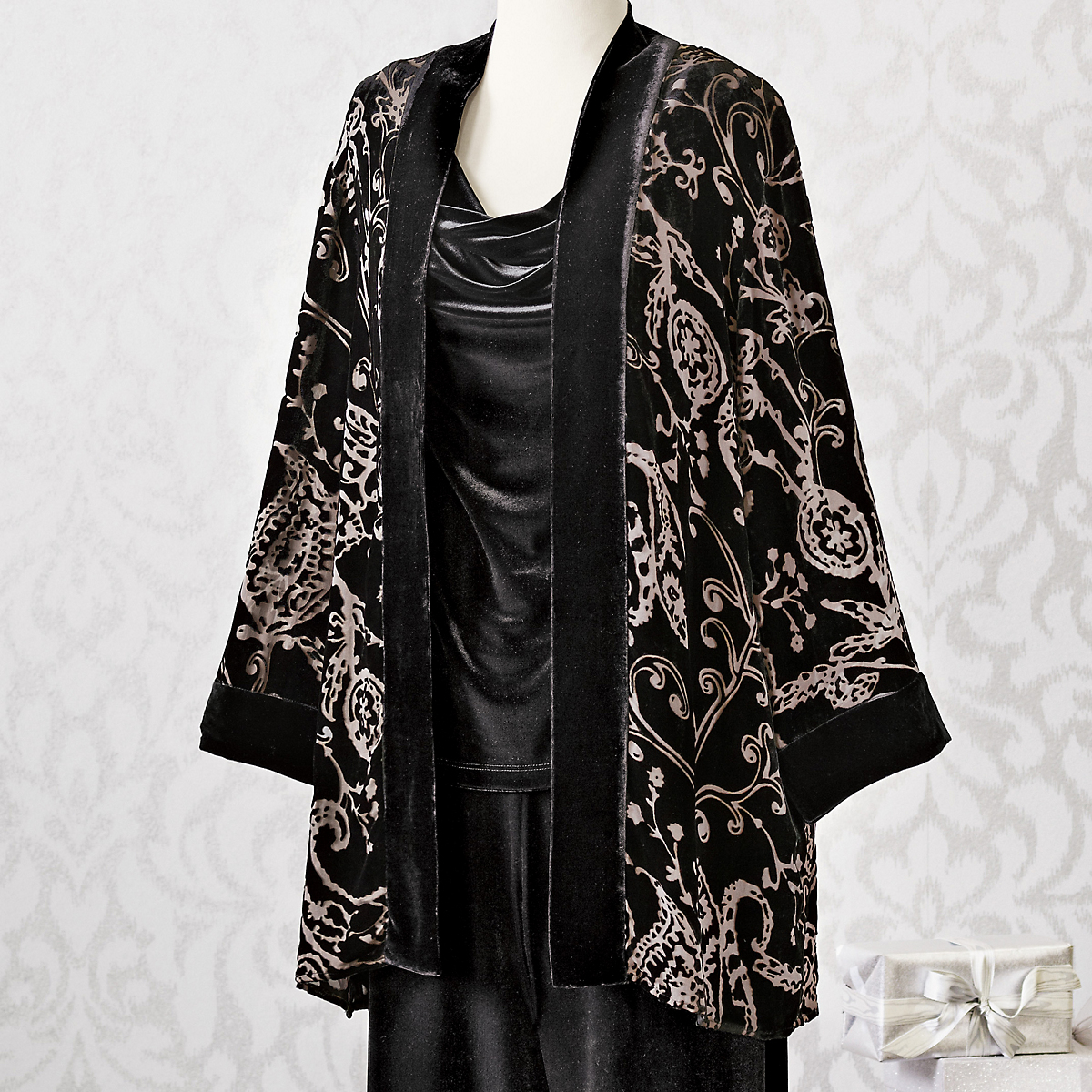 Silk & Velvet Burnout Jacket