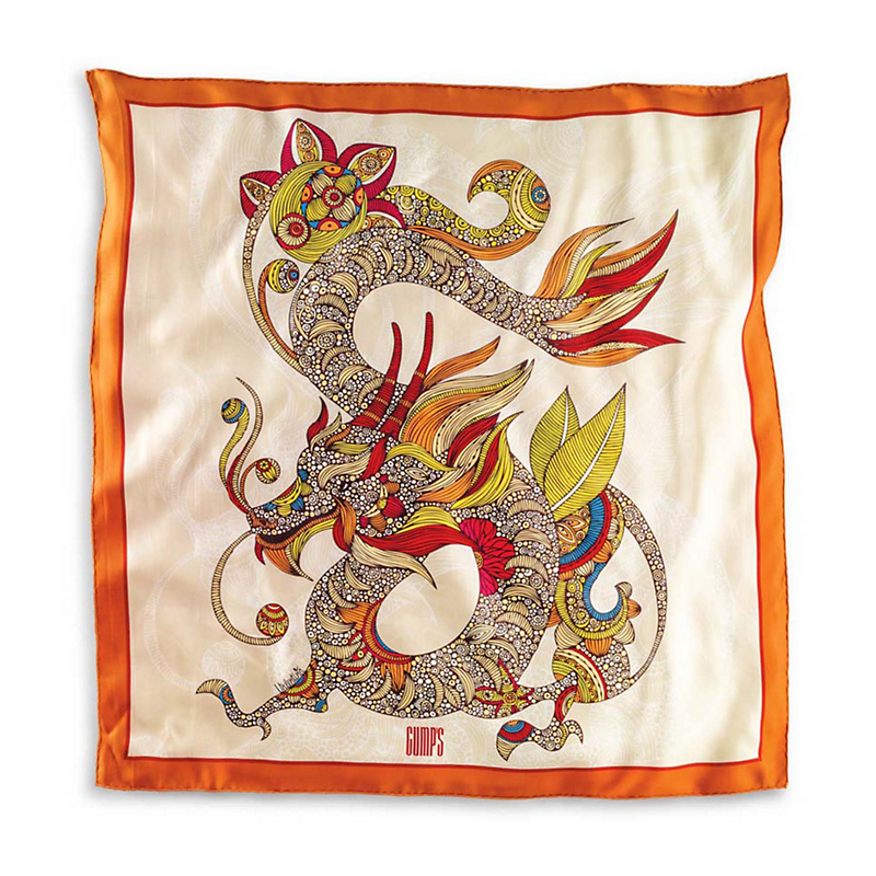 Gump's Silk Dragon Scarf