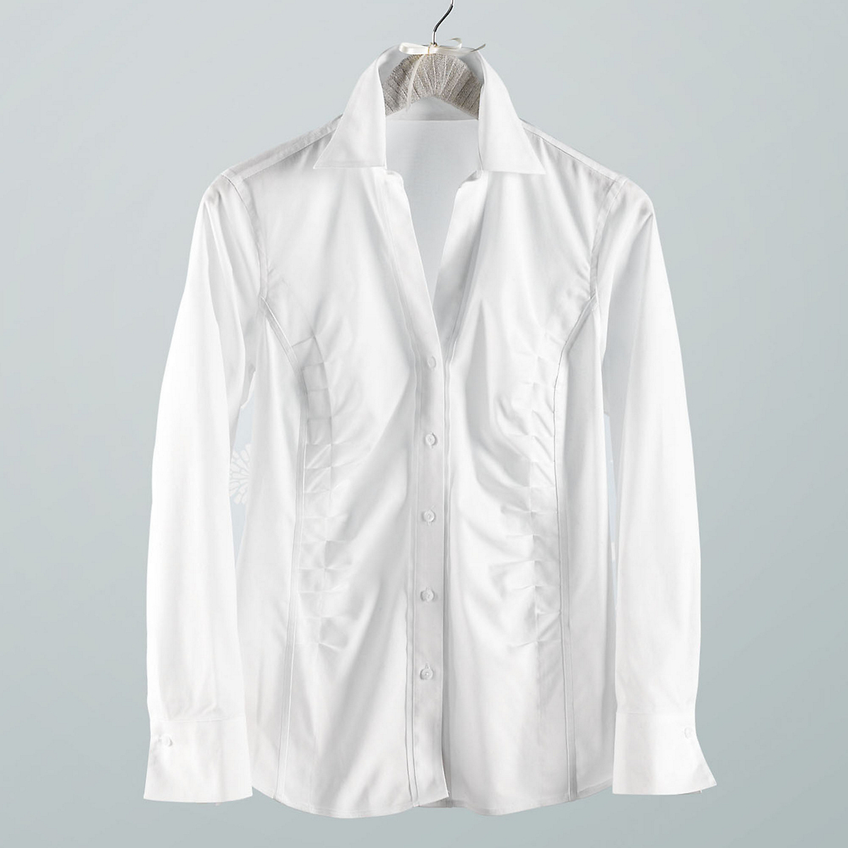 Non-Iron Shirred-Front Shirt