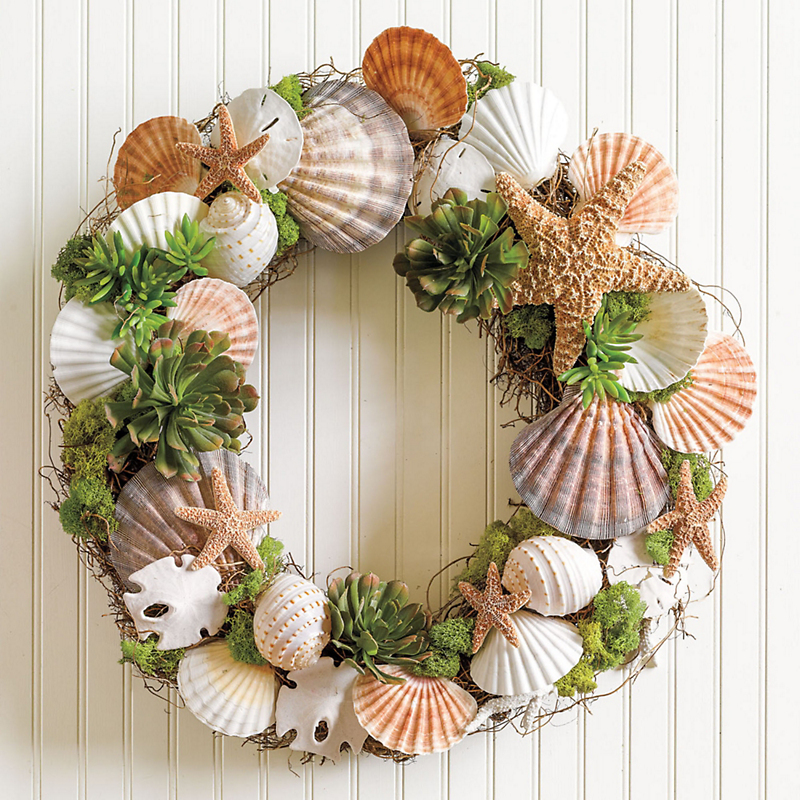Big Sur Shell Wreath