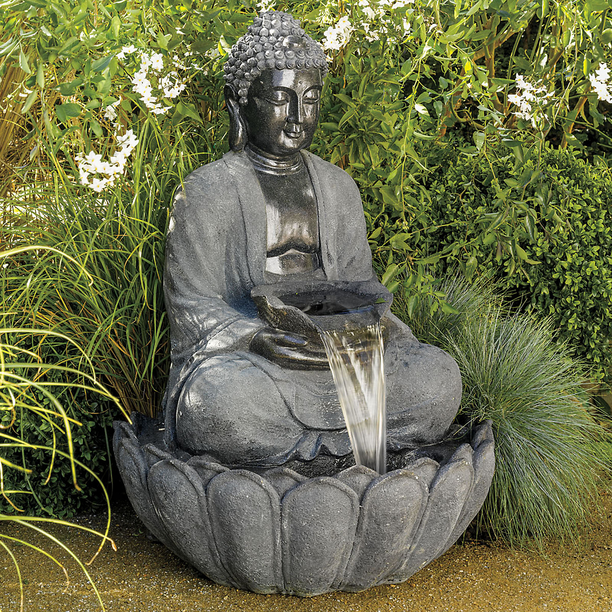 Buddha fountain gump 39 s for Decoration jardin bouddha