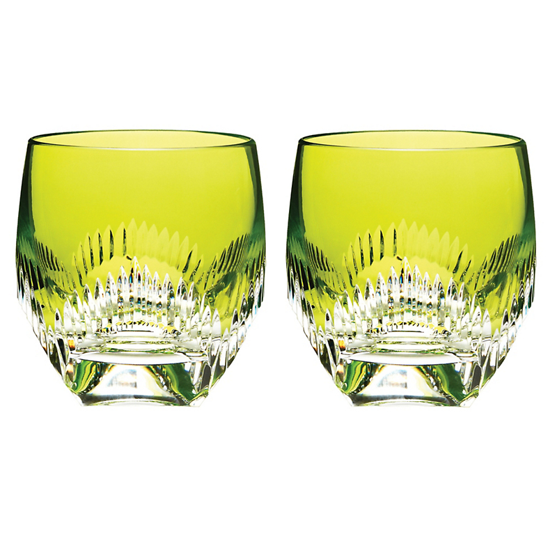 Mixology DOF Glasses in Neon Lime, Set of 2