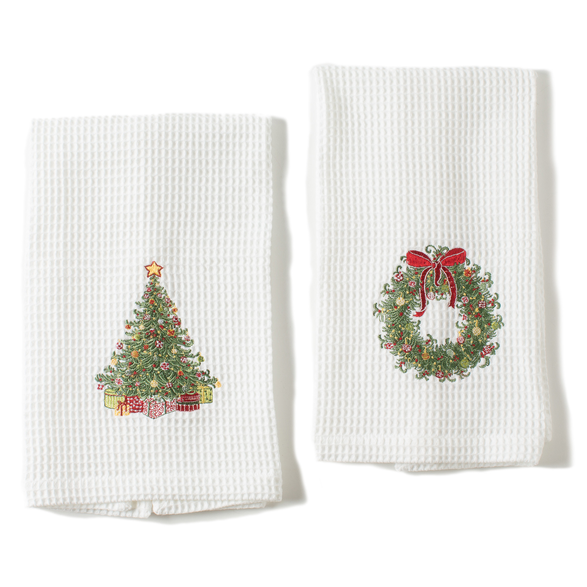 Christmas Kitchen Towels, Set Of 2