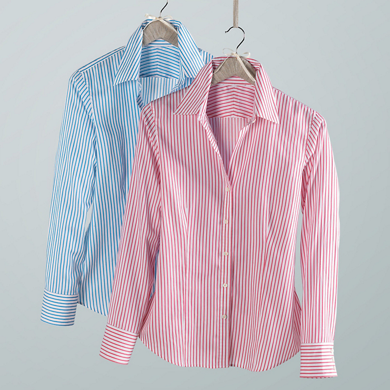 Non-Iron Charlotte Stripe Blouse