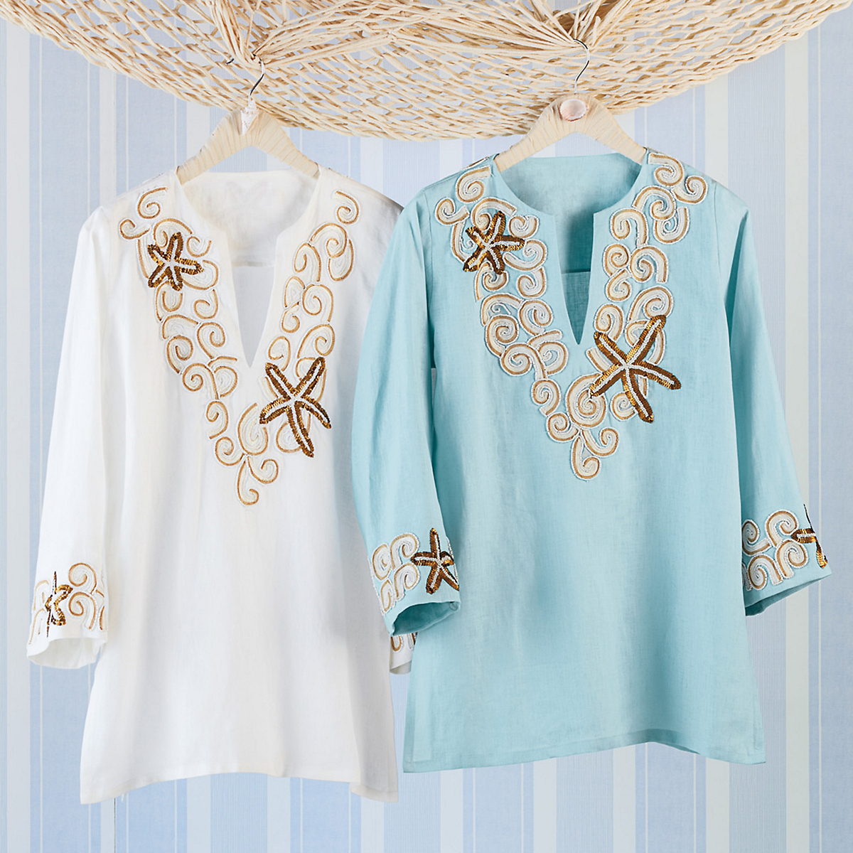 Starfish Embroidered Tunic