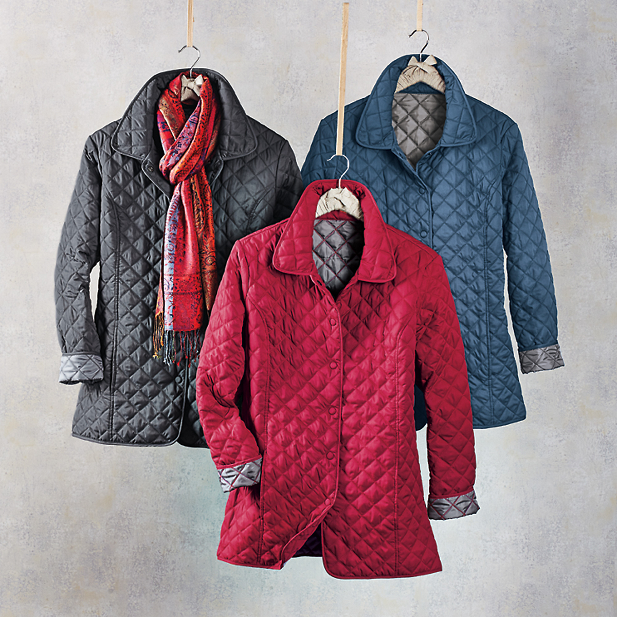 Silver Linings Quilted Coat