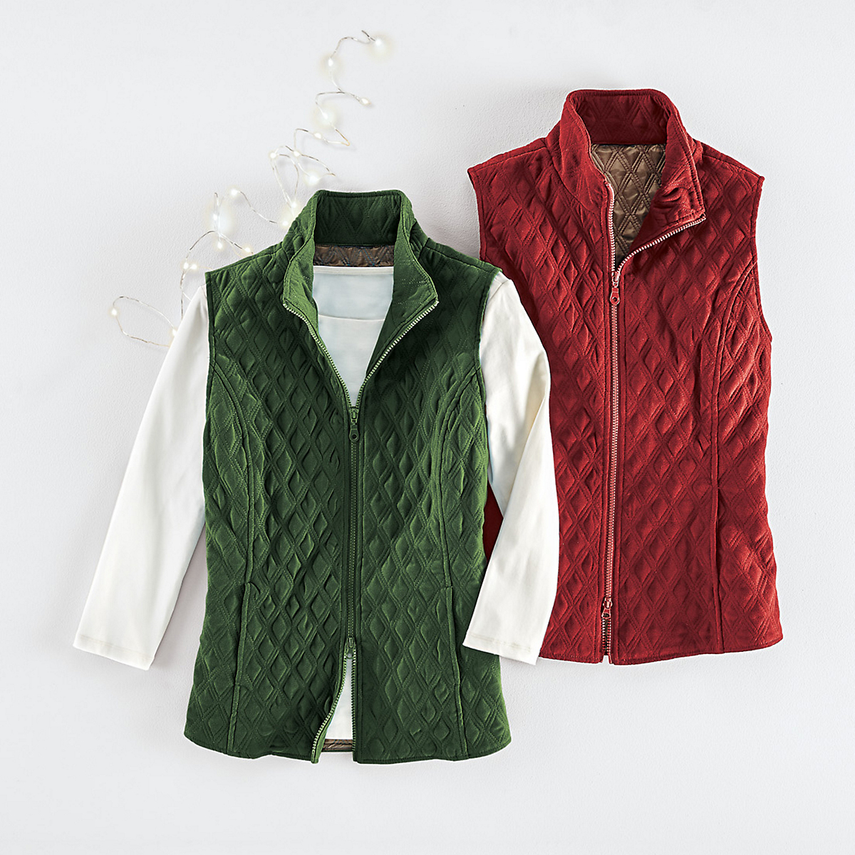 Diamond Quilted Vest